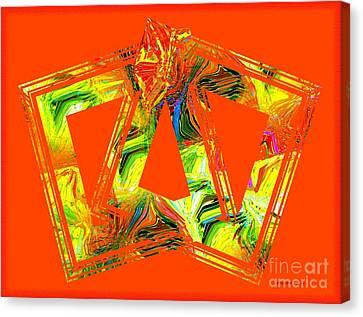 Orange And Yellow Art Canvas Print by Mario Perez