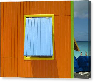 Orange Cabin Canvas Print by Randall Weidner