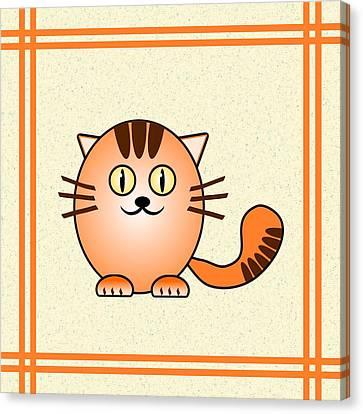 Orange Cat - Animals - Art For Kids Canvas Print by Anastasiya Malakhova