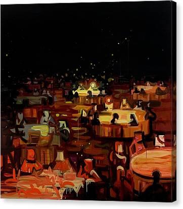 Orange Dining Room 2 Canvas Print by Susie Hamilton