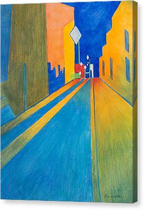 Orange France At Night Canvas Print by Lee Beuther