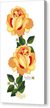 Orange Glow Canvas Print by Anne Norskog