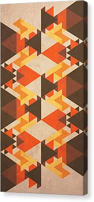 Orange Maze Canvas Print by VessDSign