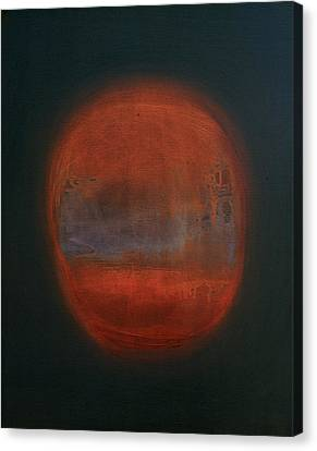 Orange Orb Canvas Print by Kongtrul Jigme Namgyel