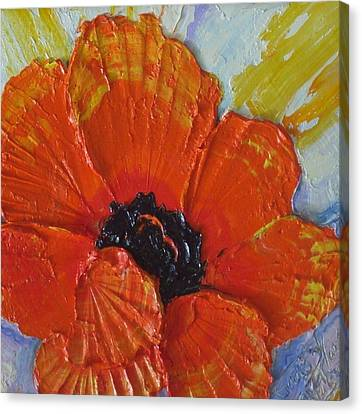 Orange Poppy Canvas Print by Paris Wyatt Llanso