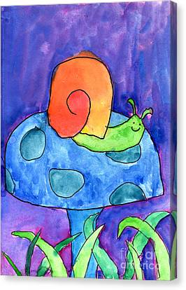 Orange Snail Canvas Print by Nick Abrams Age Twelve