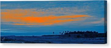 Orange Sunset Canvas Print by Ben and Raisa Gertsberg