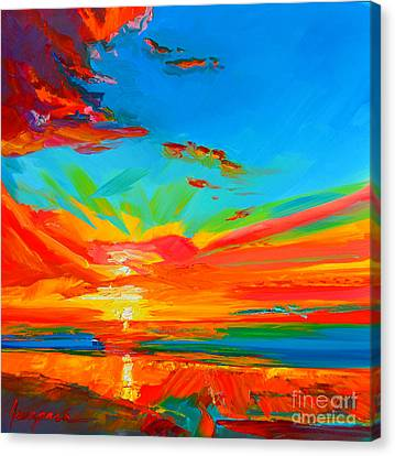 Orange Sunset Landscape Canvas Print by Patricia Awapara