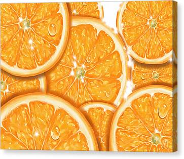 Orange Canvas Print by Veronica Minozzi