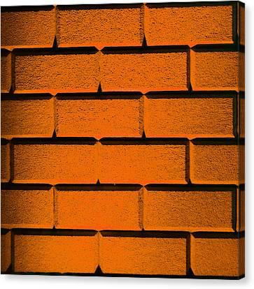 Orange Wall Canvas Print by Semmick Photo