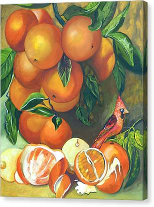 Oranges And Lemons Canvas Print by Susan Robinson
