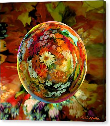 Orb Of Forever Autumn Canvas Print by Robin Moline