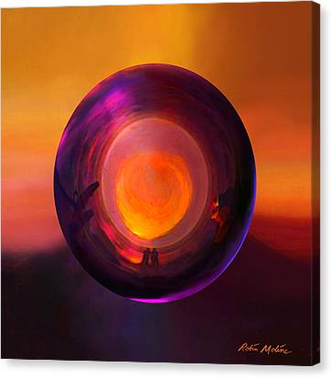 Orbing An Evening Sunset Canvas Print by Robin Moline