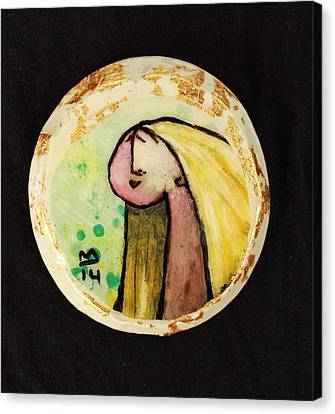 Orbis Woman With Yellow Hair  Canvas Print by Mark M  Mellon