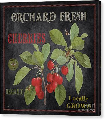 Orchard Fresh Cherries-jp2639 Canvas Print by Jean Plout