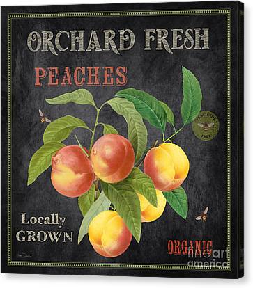 Orchard Fresh Peaches-jp2640 Canvas Print by Jean Plout