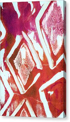 Orchid Diamonds- Abstract Painting Canvas Print by Linda Woods