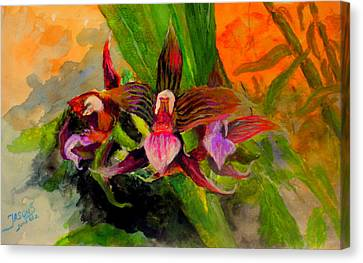 Orchiid Canvas Print by Jason Sentuf