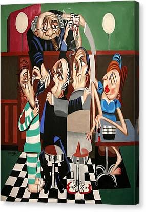 Order In The Court Side Bar Canvas Print by Anthony Falbo
