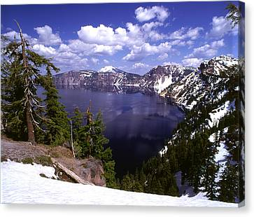 Oregon Crater Lake  Canvas Print by Anonymous