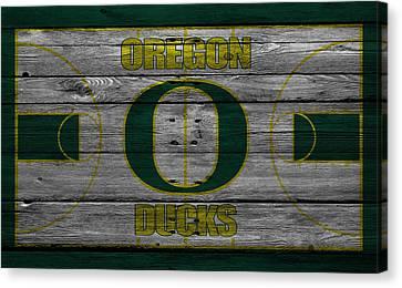 Oregon Ducks Canvas Print by Joe Hamilton