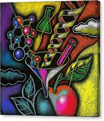 Organic Food Canvas Print by Leon Zernitsky