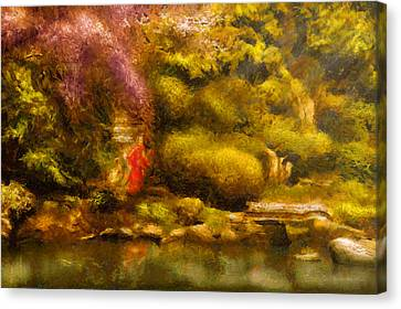 Orient - The Japanese Garden Canvas Print by Mike Savad