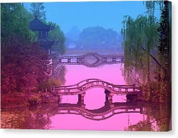 Oriental Bridge Canvas Print by Larry Moloney