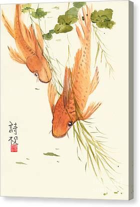 Oriental Koi II Canvas Print by Sandy Linden
