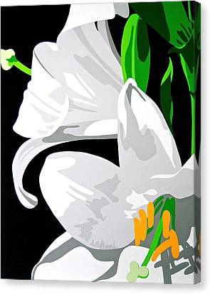 Oriental Lily Canvas Print by Susan Porter