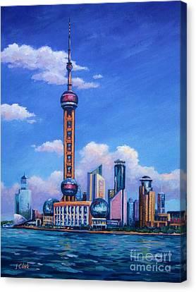 Oriental Pearl Shanghai Canvas Print by John Clark