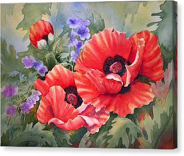 Oriental Poppy Canvas Print by Johanna Axelrod