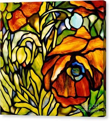 Oriental Poppy Canvas Print by Tiffany Studios