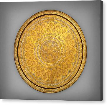 Oriental Tray Canvas Print by Celestial Images