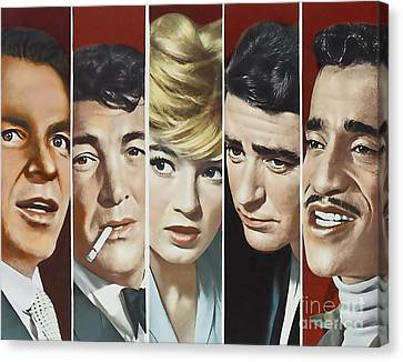 Original Oceans 11 Cast Canvas Print by Marvin Blaine