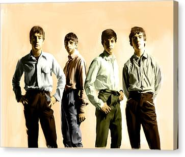 Original Punk IIi  The Beatles  Canvas Print by Iconic Images Art Gallery David Pucciarelli