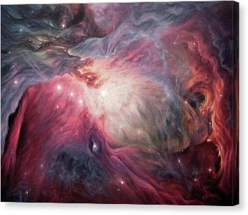 Orion Nebula M42 Canvas Print by Lucy West