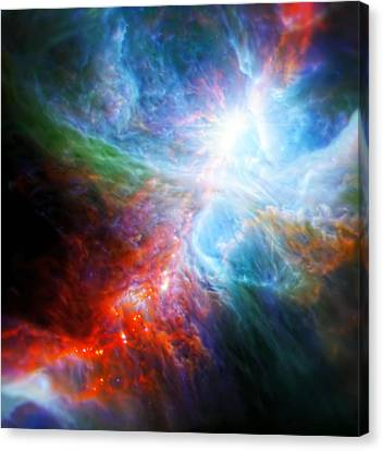 Orion's Rainbow 3 Canvas Print by The  Vault - Jennifer Rondinelli Reilly