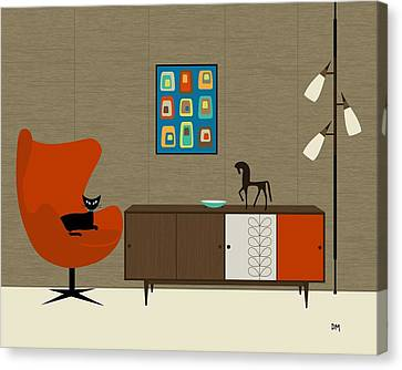 Orla Kiely Cabinet Canvas Print by Donna Mibus