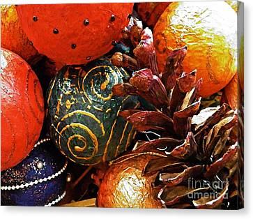 Ornaments 5 Canvas Print by Sarah Loft