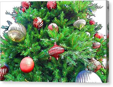 Ornaments So Bright Canvas Print by Audreen Gieger-Hawkins