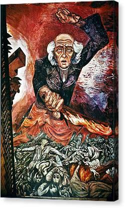 Orozco 'father Hidalgo' Canvas Print by Granger