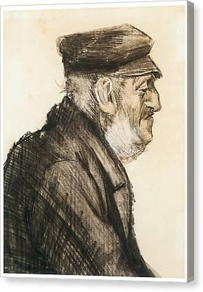 Orphan Man Bust-length Canvas Print by Vincent van Gogh