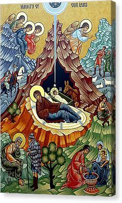 Orthodox Nativity Of Christ Canvas Print by Munir Alawi