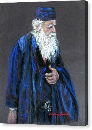 Orthodox Priest From Athens Greece Canvas Print by Shirley Leswick