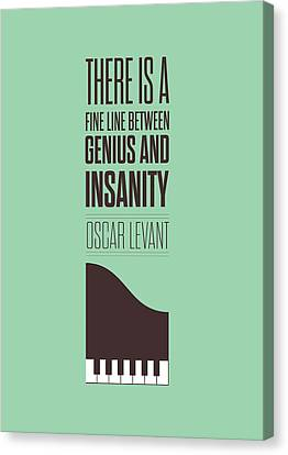Oscar Levant Inspirational Typography Quotes Poster Canvas Print by Lab No 4 - The Quotography Department