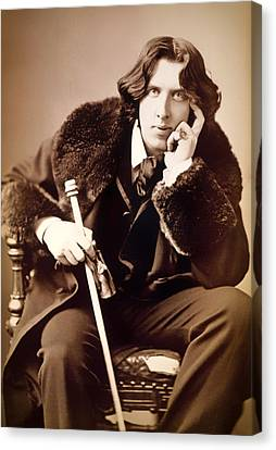 Oscar Wilde 1882 Canvas Print by Mountain Dreams