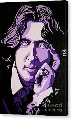 Oscar Wilde Canvas Print by Rebecca Mott