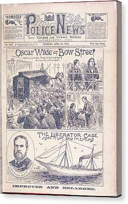 Oscar Wilde Trial Canvas Print by British Library