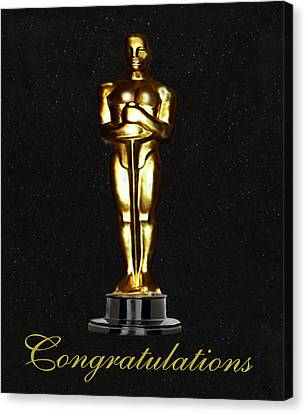 Rocks Canvas Print featuring the photograph Oscars Congratulations by Eric Kempson